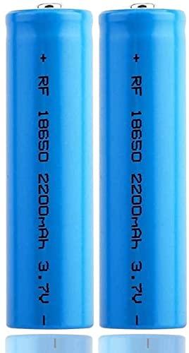 18650 Recargable Li-Ion Battery High Capacity 2200mAh 3.7V Luz Solar Batería Batería Batería Garland TV Control Remoto inalámbrico Mouse Linterna Linterna-4 Piezas