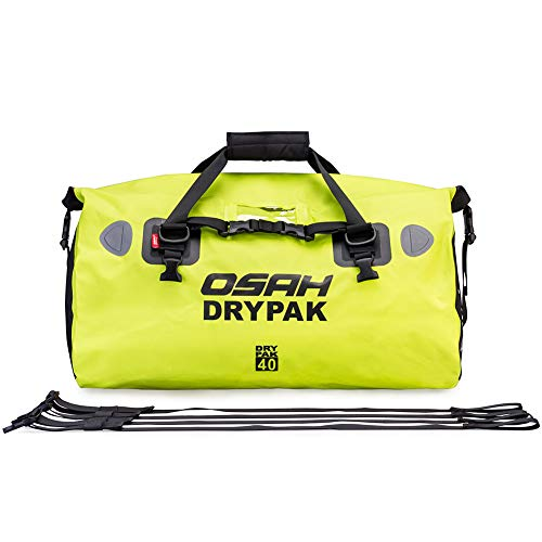 Price comparison product image BORLENI OSAH-Green-40L Dry Duffle Tail 500D PVC Waterproof Saddle Bag Luggage Reflective Green 40L for Motorcycling,  Hiking,  Cycling,  Travel,  Camping,  Outdoor