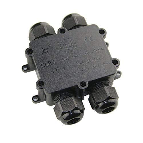 4-Wege Verteilerbox IP68 geeignet für Kabel mit einem Durchmesser von 4-14mm