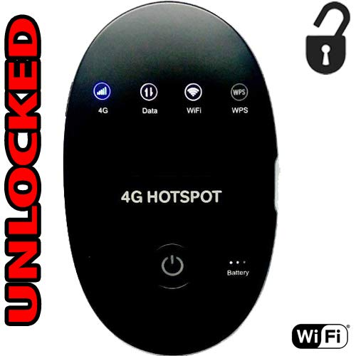 WIPOD WD670 Hotspot Router 4G LTE 850 / 1800 / 2300 MHZ GSM Up to 31 Wifi Users (4G At&T Cricket H2O USA Latin Digitel Caribbean Europe)