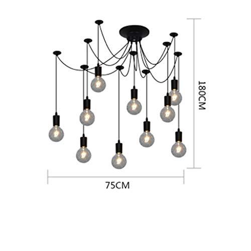 WWW kroonluchter, brons, creatief restaurant, industriële retro, persoonlijkheid ideaal voor woonruimtes, plafondlamp