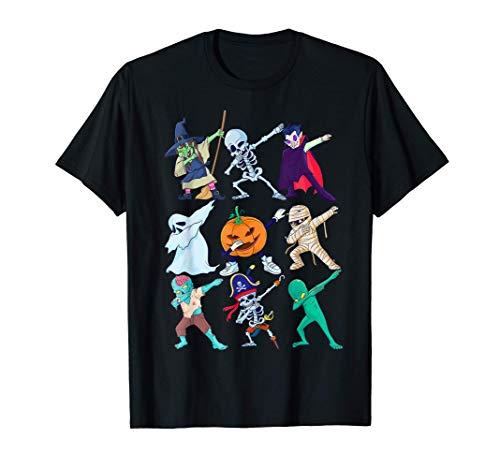 Dabbing Halloween Esqueleto Monstruos Niños Niñas Regalo Camiseta