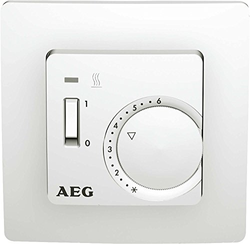 AEG thermostaat RT 5050 SN, 2-punt, temperatuurinstelling 5-30 °C, inbouw, met controlelamp, 223303
