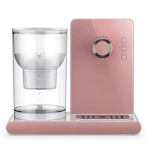 Huishoudelijke Desktop Water Purifier, Filter Water Dispenser Quick Hot Mini Desktop Small Office Home Desktop Mini Water Dispenser Electric Theepot 3L Grote Capaciteit,Pink
