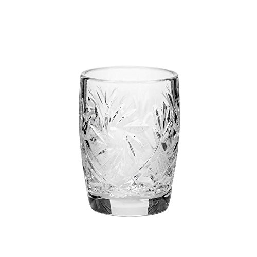 Neman Crystal, vasos de chupito de cristal de 1.5 onzas, juego de 6 piezas, cristalería vintage