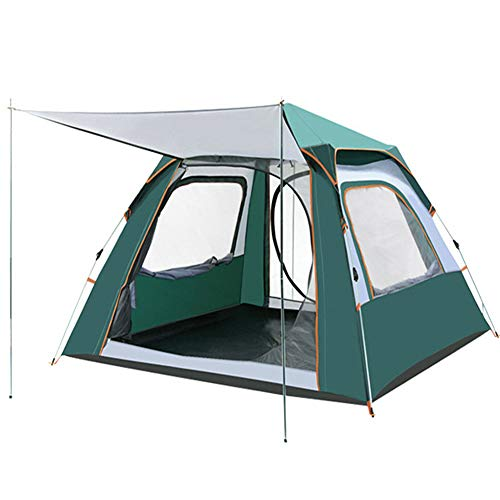 Family Tent, Dome Tent, Pop Up Tent for 3-4 Person Automatic Double Layer Tent, Waterproof Camping Tents with Porch for Hiking Outdoor