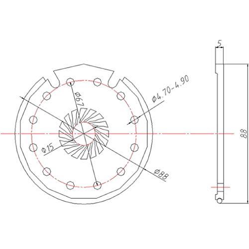 Boburyl Sensor de Velocidad del Pedal de Bicicleta eléctrica Pas Sensor Asistente...