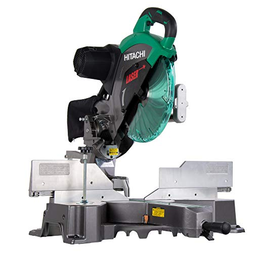 Hitachi C12RSH2 15-Amp 12-Inch Dual Bevel Sliding Compound Miter Saw with...