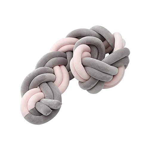 LUUDE Intrecciato Handmade Wiege Stoßstange Baby Stoßstange Knot Braid Stoßdämpfer Kissen Dekokissen für Neugeborene Bed Sonno Bumper,Style13,3m