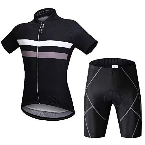 WOSAWE - Maillot de ciclismo de manga corta para hombre con acolchado...