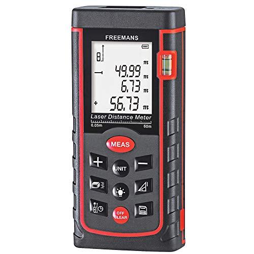 FREEMANS PRO-L60 Laser Distance Meter Measuring Tape - 60m