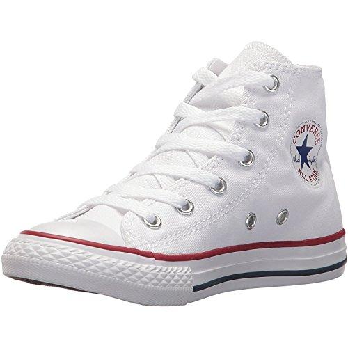 Converse Chucks Bambini 3J253C AS Hi Can Bianco Bianco, Taglia:35