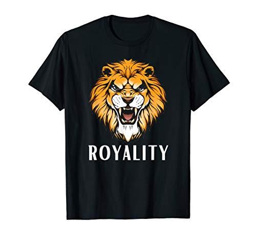 Lion Face Graphic design Royality for kids men women T-Shirt