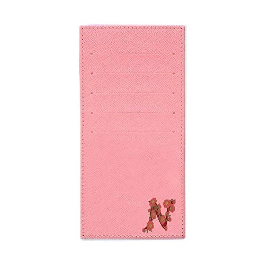スケジュールクラシカル陽気なインナーカードケース 長財布用カードケース 10枚収納可能 カード入れ 収納 プレゼント ギフト 2802フラワーネーム (N) パウダーピンク mirai