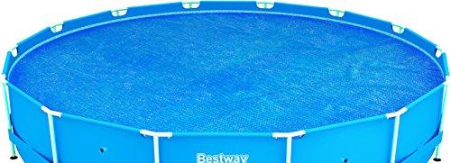 Bestway 58172 - Cobertor solar Manta Térmica para piscinas Steel Pro redondas...