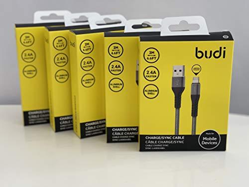 Cable cargador para iPhone a USB, cable de 2 m [7.7 pies] de nailon trenzado de carga rápida compatible iPhone 12Pro Max/12Pro/12/11Pro Max/11Pro/11/XS/Xs Max/XR