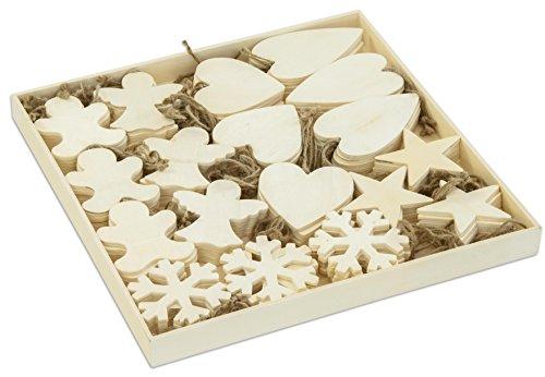 Décoration de Noël - Taille 9-11 cm - Épaisseur 4 cm - contreplaqué, 90asstd