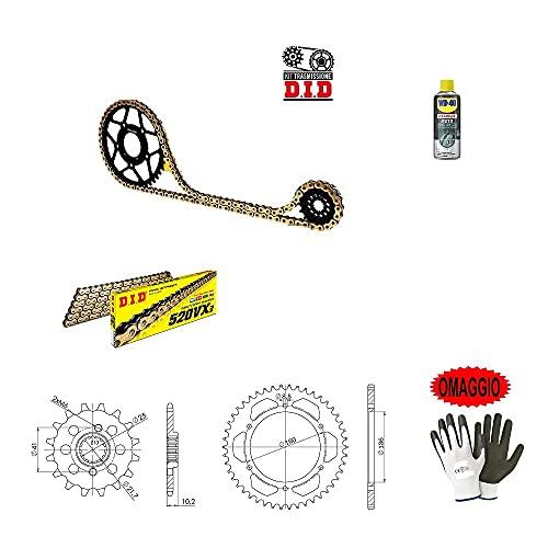 Compatible con Aprilia Pegaso Factory 660 2010-10 PIÑÓN Kit Cadena PIÑÓN para Moto DE TRANSMISIÓN Did 520VX3 LUN 112 Enlaces, PIÑÓN Acero P520-Z46, PIÑÓN P520-Z15 ESPECÍFICO