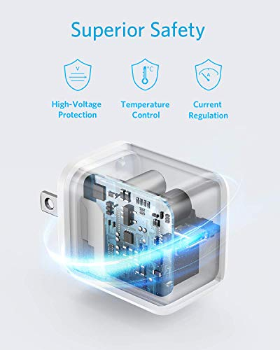 USB C Charger, Anker 20W PIQ 3.0 Fast Charger with Foldable Plug, PowerPort III Charger for iPhone 13/13 Mini/13 Pro/13 Pro Max/12/11, iPad/iPad Mini, MagSafe, and More (Cable Not Included)