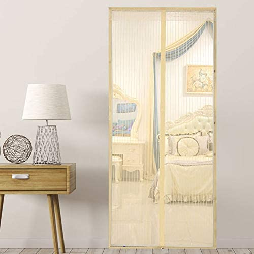 Magnetic Screen Door Cover Double Mesh Curtain Voor Voordeur En Binnenlandse Buiten KidsHuisdieren Walk Through Passen Gemakkelijk DeurB150220