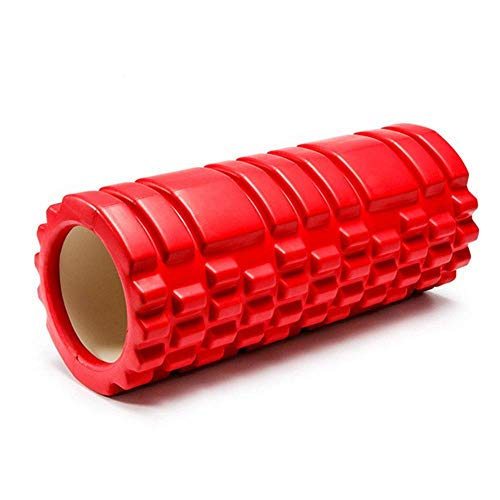 WCY Sport Foam Roller Beste for Deep Tissue Muscle Massage, Physio, YogaBack Übung zu Rollen Muskeln, Beine oder Kalb Triggerpunkt-Therapie Set for GymRunners, ab Rollen Laufrad yqaae (Color : Red)