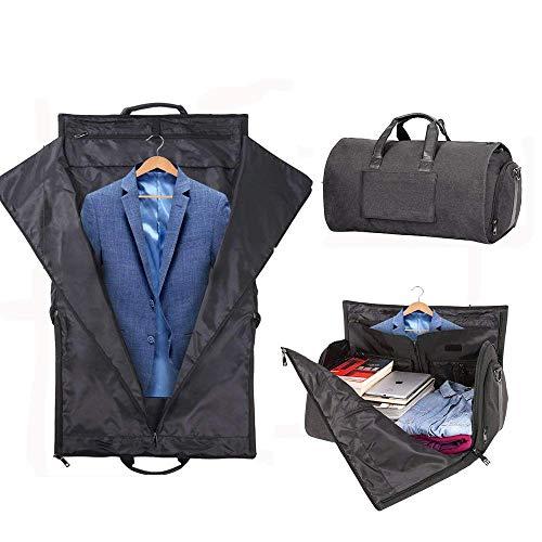 Takarafuneガーメントバッグメンズスーツ収納ガーメントケース折りたたみ防水防塵キャリーオンバッグ靴収納ボストンバッグ出張折りたたみ大容量