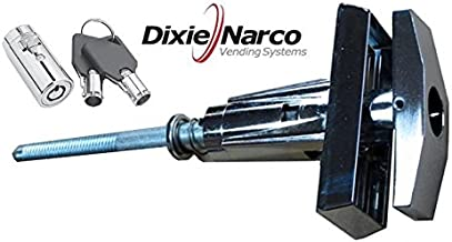 Dixie Narco Early T-Handle Assembly with Upgraded Lock, with Key Covers #1452