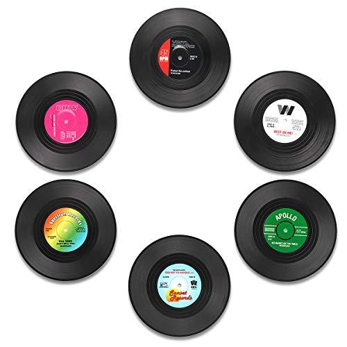 MECOWON Coaster Vinyl Record Retro Coasters