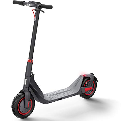 Elektro Scooter 500W Motor Elektroroller Erwachsene, Maximale Geschwindigkeit 35km/h, 35km Laufleistung, 10-Zoll Faltbarer E-Scooter mit 36V/10.4AH Batterie - G MAX (G MAX Schwarz)