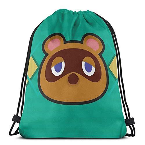 orangefruit Tom Nook Animal Crossing Mochila Deportiva Plegable Impermeable Bolsa de Gimnasio...