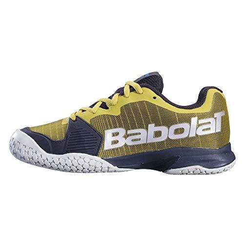 Babolat Jet Clay Junior, Scarpe da Tennis Unisex-Bambini, Dark Yellow/Black, 37 EU