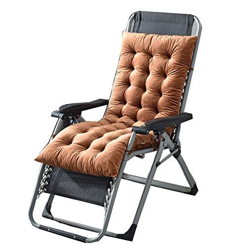 ZHHL - Cojines para silla mecedora (mimbre), marrón, 130*50*10
