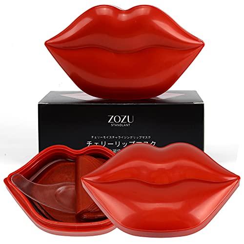 40Pcs Moisturizing Lip Mask Lip Sleeping Mask Repair Lip Mask for Dry Cracked Lips Collagen Booster Sleeping Lip