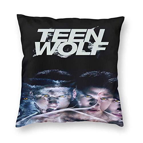 Throw Square Throw Pillow Cover/Funda de almohadaAlmohada Cuadrada Suave Teen-Wolf para Cama, sofá, Coche, 22 'X22'