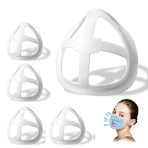 LOPP 3D Silicone Bracket for Mask, Reusable Washable Mask Inner Support Frame for Comfortable Mouth Breathing Space 10pcs White