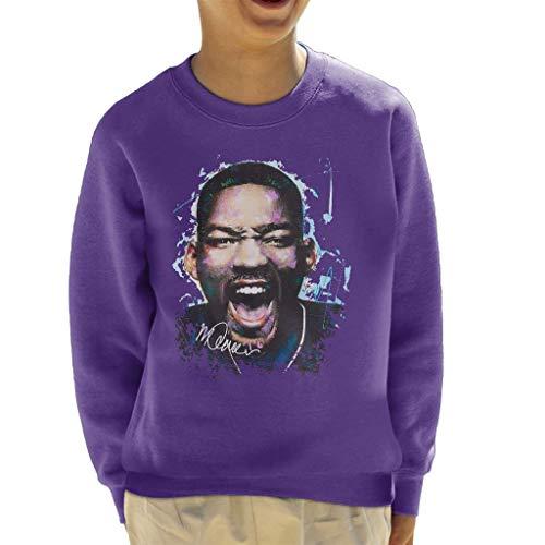 VINTRO Sidney Maurer Original Portrait of Will Smith Kid's Sweatshirt