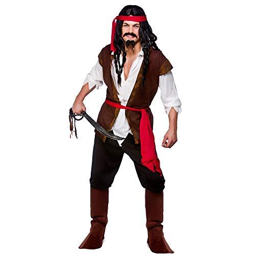 Adult Mens Caribbean Pirate Fancy Dress Costume (Large)