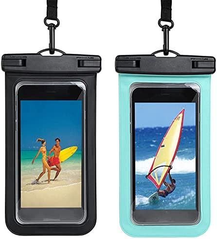 Universal Waterproof Pouch Cellphone Dry Bag Case for 4.8-6 Inch Mobile Phone Support Diving -Black