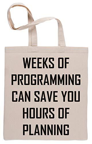 Plan Tu Programación Bolsa De Compras Shopping Bag Beige