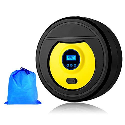 WNN-URG Compresor de Aire portátil, neumático del, for SUV de Bicicletas, Baloncesto, Baloncesto for inflar con Aire, 12V (con retroiluminación LED Manómetro Digital) URG