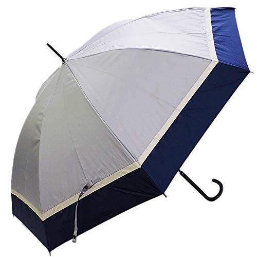 [マコッカ] 完全遮光 晴雨兼用傘 makez. 60cm 3色切替 ブラック