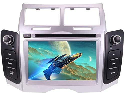 HYDDG Radio estéreo de automóvil para Toyota Yaris 2005-2011,7 Pulgadas Andriod 10.0 Sistema Satnav Double System DIN GPS Navegación