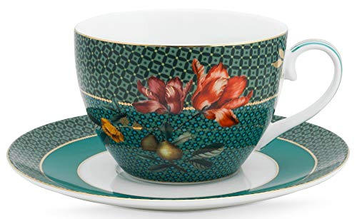 Pip Studio Tasse mit Untertasse Winter Wonderland | Dark Green - 280 ml