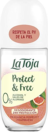 La Toja Protect & Free - Desodorante Roll-On Pomelo y Frambuesa, 1 x 50 g