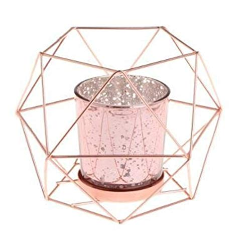 Kandelaars Voor Tafel Scandinavische Stijl 3D Geometrische Kandelaar Metalen Kandelaars Bruiloft Huisdecoratie Tafeldecoratie Theelicht (Kleur: Zwart)