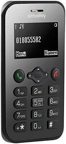 simvalley MOBILE Scheckkartenhandy: Scheckkarten-Handy Pico RX-486 mit BT, Garantruf, GPS (Kleines Handy)
