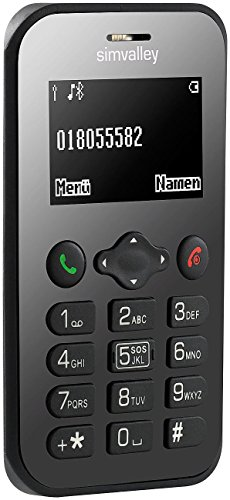 simvalley MOBILE Mini Handy: Scheckkarten-Handy Pico RX-486 mit BT, Garantruf, GPS (Kleines Handy)