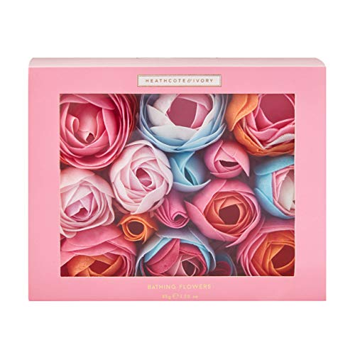 Heathcote & Ivory Florals Pinks and Pear Blossom Bathing Flowers in Sliding Gift Box