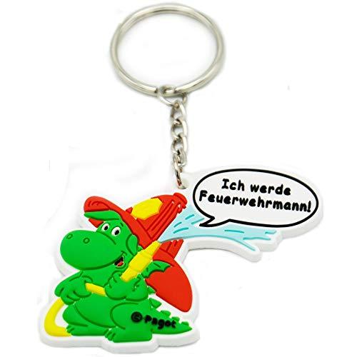 Grisuhilft 3D-Schlüsselanhänger | Spende an verunfallte Kameraden | Kleiner Drache |