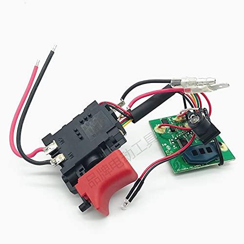 SDUIXCV Interruptor de gatillo, módulo electrónico 1600A00FG7 para Bosch TSR1000 GSR1000 GSR1000SMART, Destornillador de Taladro inalámbrico, Pieza de Accesorios
